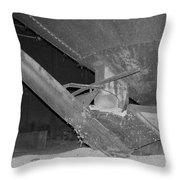 Grain Processing Facility In Mclean Illinois 1 Throw Pillow