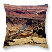 Grand Canyon Colorado River Throw Pillow
