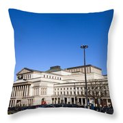 Grand Theatre In Warsaw Throw Pillow