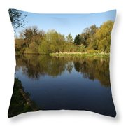 Grand Union Canal Near Denham Throw Pillow