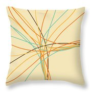 Graphic Line Pattern Throw Pillow by Setsiri Silapasuwanchai