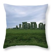 Gray Clouds Over The Ancient Ruins Throw Pillow