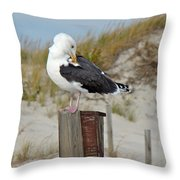 Great Black-backed Gull    Larus Marinus Throw Pillow