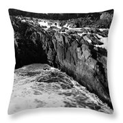Great Falls Virginia Bw Throw Pillow