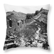 Great Wall Of China, 1901 Throw Pillow