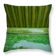 Green Pottery Throw Pillow