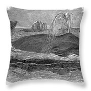 Greenland Whale Throw Pillow