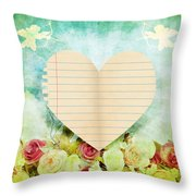 greeting card Valentine day Throw Pillow