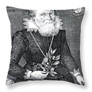 Gregor Horstius, German Physician Throw Pillow by Science Source