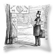 Grover Cleveland Cartoon Throw Pillow