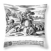 Guiana: Gold Casting, 1599 Throw Pillow