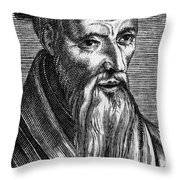 Guillaume Farel (1489-1565) Throw Pillow
