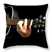 Guitar In Hands  Throw Pillow