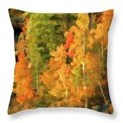 Hang Gliding The Autumn Colors Throw Pillow