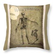 Happy Halloween Throw Pillow by Jeff Burgess