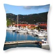 Harbor Paradise Throw Pillow