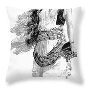 Harem Woman. 19th Century Throw Pillow