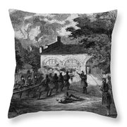 Harpers Ferry Insurrection, 1859 Throw Pillow