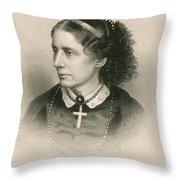 Harriet Beecher Stowe, American Throw Pillow by Photo Researchers