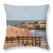 Hastings Beach Throw Pillow