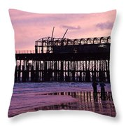 Hastings Pier After The Fire Throw Pillow by Dawn OConnor
