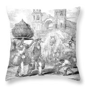 Havana, Cuba, 1853 Throw Pillow