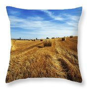 Hay Baling Throw Pillow