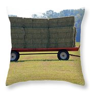 Hay Wagon Throw Pillow