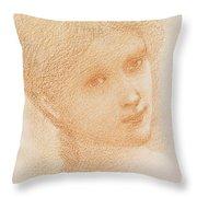 Head Study Of A Girl Throw Pillow