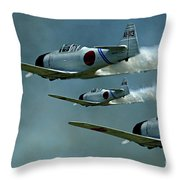 Heading For Pearl Harbor Throw Pillow
