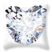 Heart Diamond  Throw Pillow