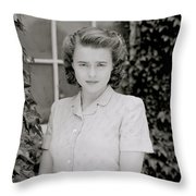 Actress Helena Bonham Carter  Throw Pillow