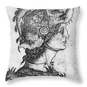Helmet, 15th Century Throw Pillow