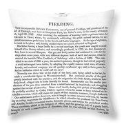 Henry Fielding (1707-1754) Throw Pillow