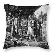 Henry I (876-936) Throw Pillow