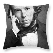 Herbert Spencer, English Polymath Throw Pillow