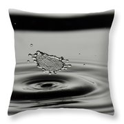 High-speed Flash Photograph Liquid Coronet. Throw Pillow