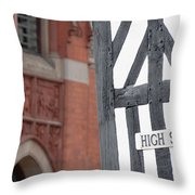 High Street Throw Pillow