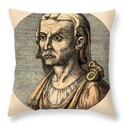 Hippocrates, Greek Physician Throw Pillow