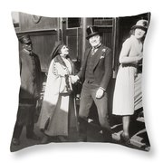His Smothered Love, 1918 Throw Pillow
