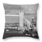 Hms Belfast Throw Pillow