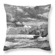 Hms Challenger, 1872-76 Throw Pillow