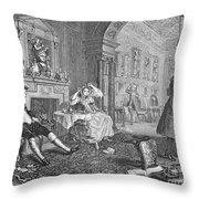 Hogarth: Marriage Throw Pillow