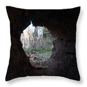 Hollow Log Throw Pillow