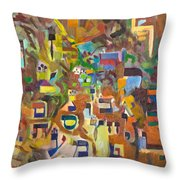 Holy Alphabet Throw Pillow
