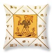 Horoscope Types, Engel, 1488 Throw Pillow