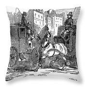 Horse Carriage, 1853 Throw Pillow