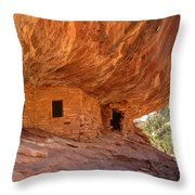 House On Fire Anasazi Indian Ruins Throw Pillow