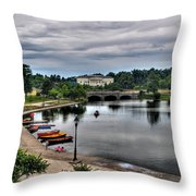 Hoyt Lake Delaware Park 0005 Throw Pillow