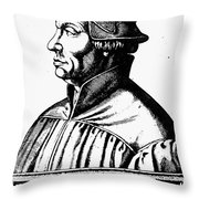 Huldreich Zwingli Throw Pillow by Granger